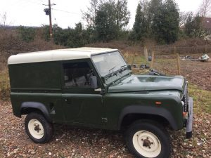 Land Rover Defender Restoration Vehicle