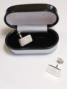 silver vip cuflinks