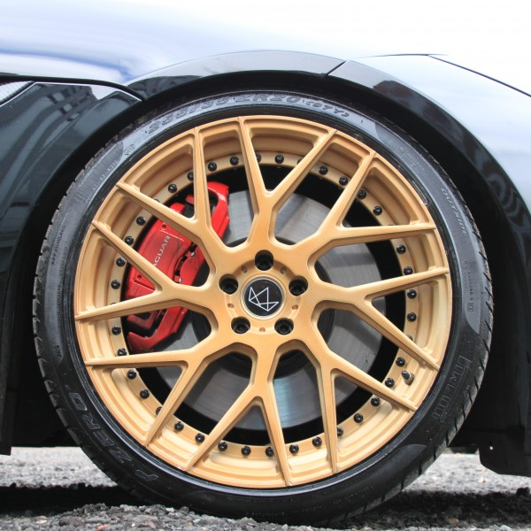 jaguar F type wheel gold