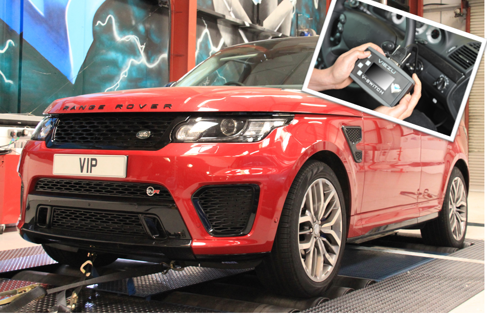 Range Rover SVR Tuning with our switchable Range Rover Remapping Tool